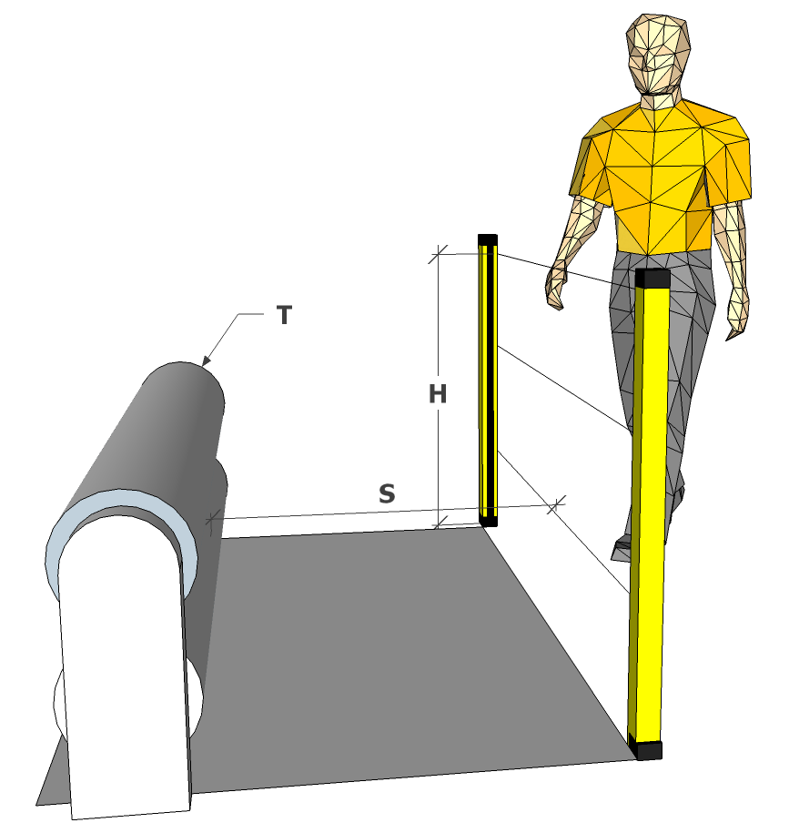 distancias barreras safework