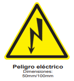 Señal Safework, peligro eléctrico