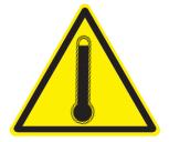 Señal Safework, alta temperatura