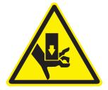 Señal Safework, aplastamiento