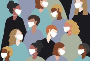 Wear medical face mask